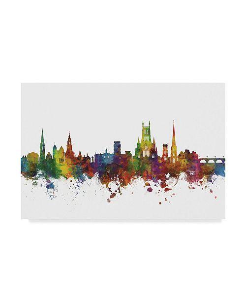 "Trademark Global Michael Tompsett Worcester England Skyline II Canvas Art - 20"" x 25"""