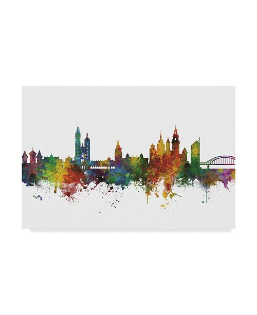 "Trademark Global Michael Tompsett Krakow Poland Skyline II Canvas Art - 20"" x 25"""
