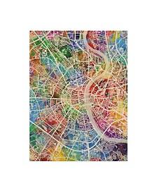 "Michael Tompsett Cologne Germany City Map Canvas Art - 37"" x 49"""