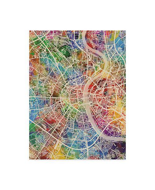 "Trademark Global Michael Tompsett Cologne Germany City Map Canvas Art - 37"" x 49"""