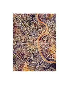 "Michael Tompsett Cologne Germany City Map II Canvas Art - 37"" x 49"""