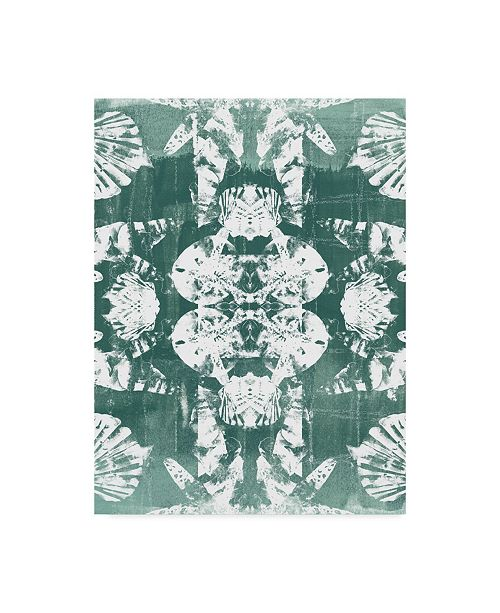"Trademark Global June Erica Vess Sea Green Kaleidoscope IV Canvas Art - 15"" x 20"""
