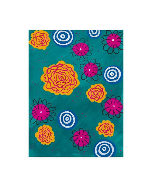 "Trademark Global Regina Moore Flower Pop I Canvas Art - 20"" x 25"""
