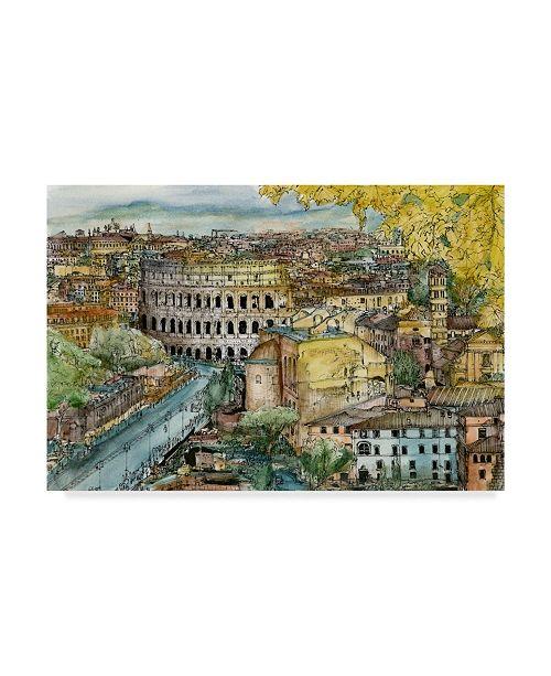 """Trademark Global Melissa Wang European Afternoon III Canvas Art - 37"""" x 49"""""""