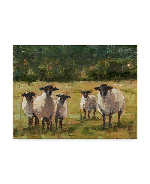 "Trademark Global Ethan Harper Sheep Family I Canvas Art - 15"" x 20"""