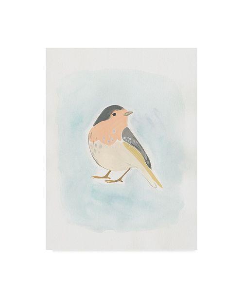 """Trademark Global June Erica Vess Dapper Bird III Canvas Art - 15"""" x 20"""""""