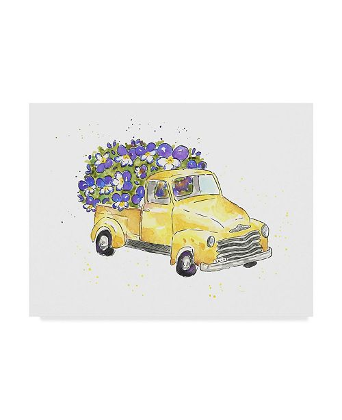 "Trademark Global Catherine Mcguire Flower Truck VI Canvas Art - 37"" x 49"""