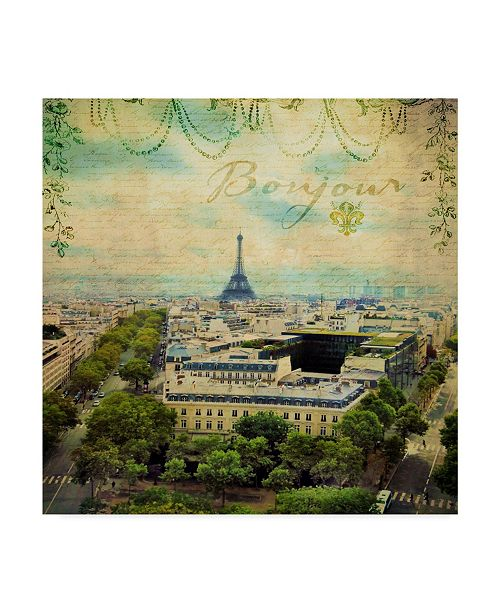 "Trademark Global Sandy Lloyd Eiffel Romance V Canvas Art - 15"" x 20"""