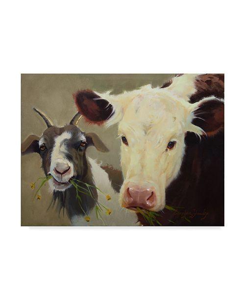 """Trademark Global Carolyne Hawley Farm Pals I Canvas Art - 20"""" x 25"""""""