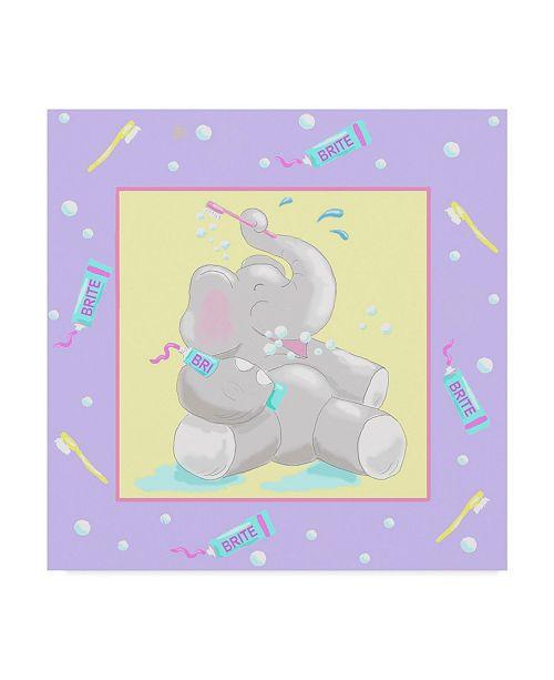 "Trademark Global Jade Reynolds Baby Elephant Bath I Canvas Art - 15"" x 20"""
