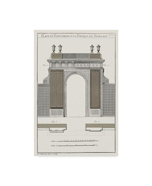 "Trademark Global Vision Studio Survey of Architectural Design III Canvas Art - 20"" x 25"""