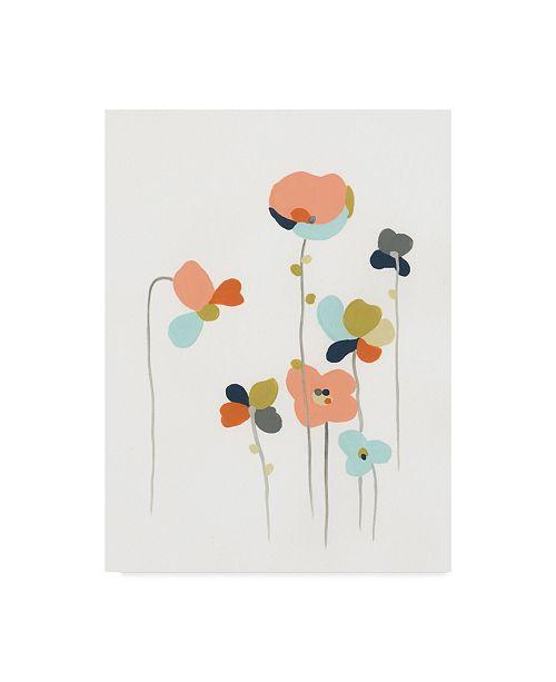 """Trademark Global June Erica Vess Modular Bouquet IV Canvas Art - 37"""" x 49"""""""