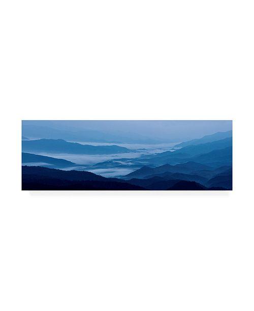"Trademark Global James Mcloughlin Misty Mountains VIII Canvas Art - 37"" x 49"""