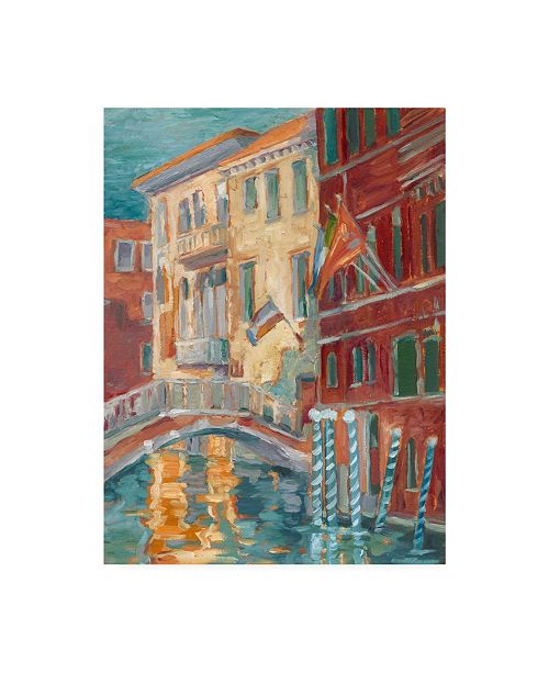 """Trademark Global Ethan Harper Sunset on the Canal I Canvas Art - 37"""" x 49"""""""