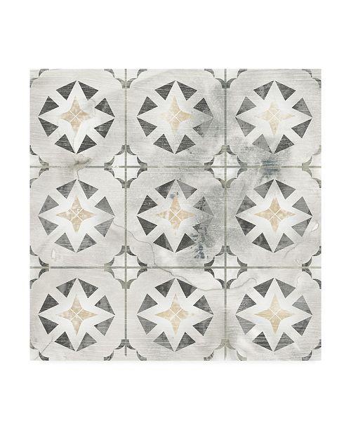 "Trademark Global June Erica Vess Marble Tile Design II Canvas Art - 27"" x 33"""