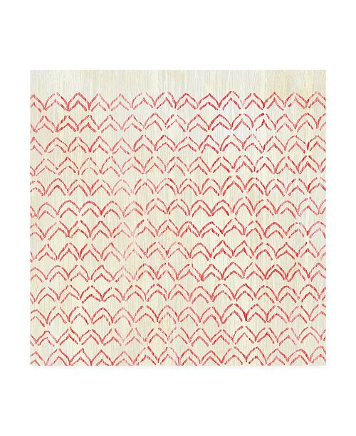 "Trademark Global June Erica Vess Weathered Patterns in Red VI Canvas Art - 27"" x 33"""