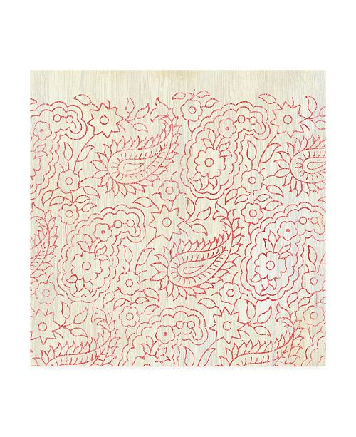 """Trademark Global June Erica Vess Weathered Patterns in Red XI Canvas Art - 27"""" x 33"""""""