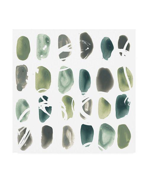 "Trademark Global June Erica Vess Rune Stone II Canvas Art - 27"" x 33"""