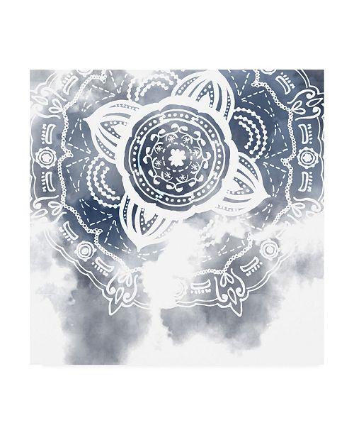 "Trademark Global Melissa Wang Midnight Blue Breath I Canvas Art - 27"" x 33"""