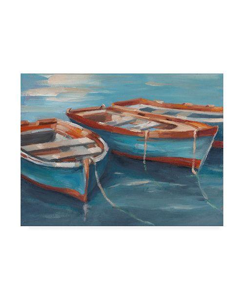 "Trademark Global Ethan Harper Tethered Row Boats II Canvas Art - 20"" x 25"""