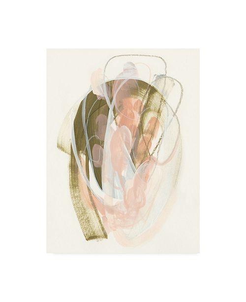 "Trademark Global June Erica Vess Hyacinth Gesture IV Canvas Art - 37"" x 49"""