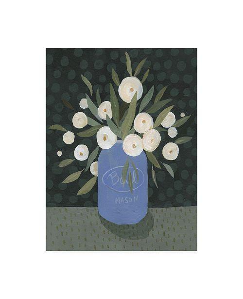 "Trademark Global Emma Scarvey Mason Jar Bouquet II Canvas Art - 37"" x 49"""