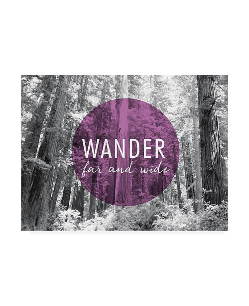 "Trademark Global Laura Marshall Wander Far and Wide V2 Canvas Art - 20"" x 25"""