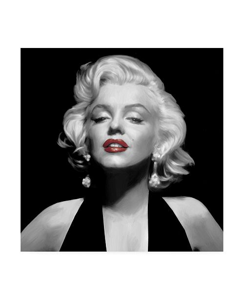 "Trademark Global Chris Consani Halter Top Marilyn Red Lips Canvas Art - 27"" x 33"""