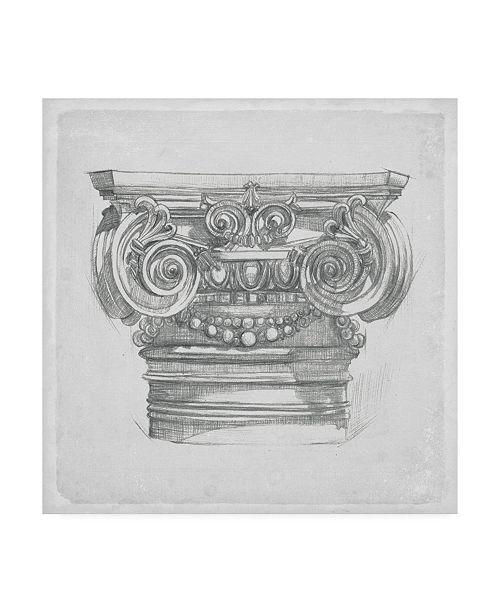 "Trademark Global Melissa Wang Capital Study I Canvas Art - 15"" x 20"""