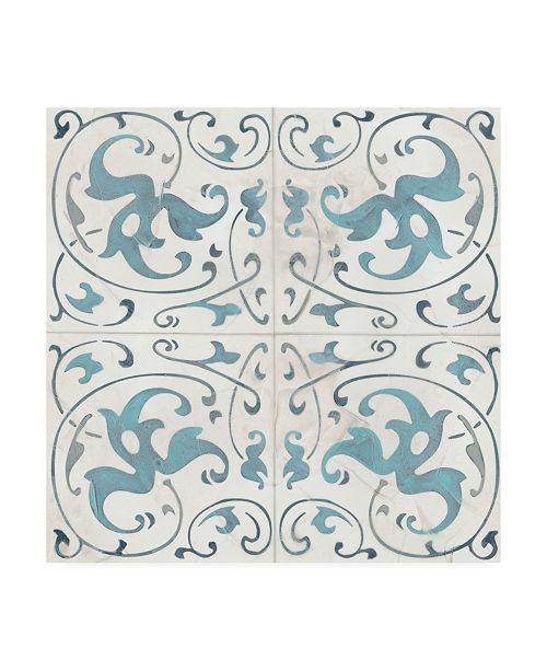"Trademark Global June Erica Vess Teal Tile Collection VIII Canvas Art - 15"" x 20"""