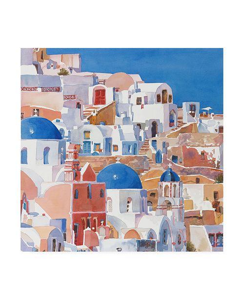 "Trademark Global Edie Fagan Santorini Watercolor II Canvas Art - 27"" x 33"""