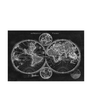 "Studio W Charcoal World Map Canvas Art - 37"" x 49"""
