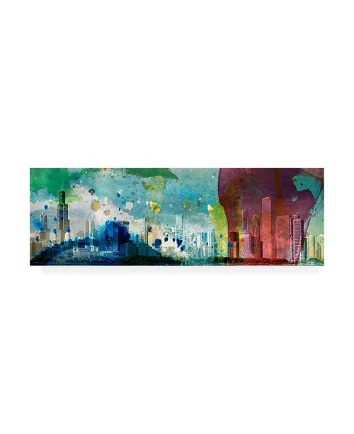 """Trademark Global Sisa Jasper Color Chicago Skyline Canvas Art - 37"""" x 49"""""""
