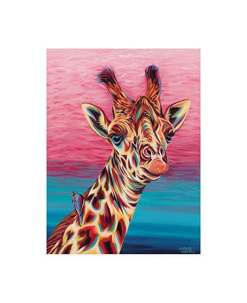 "Trademark Global Carolee Vitaletti Sky High Giraffe I Canvas Art - 20"" x 25"""