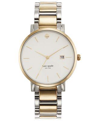 kate spade new york Watch, Women's Gramercy Two-Tone Stainless Steel Bracelet 38mm 1YRU0108