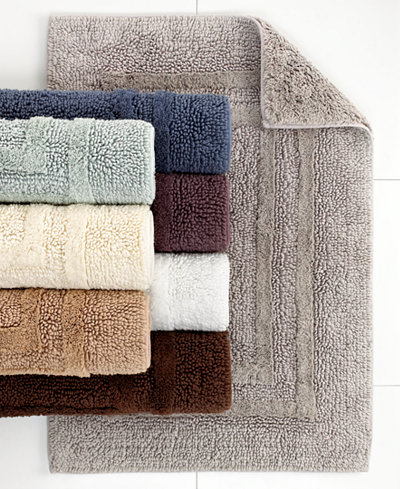 Hotel Collection Cotton Reversible Bath Rugs 100 Cotton