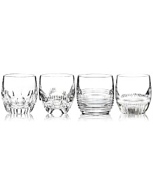 Waterford Barware, Mixology Clear Double Old Fashioned Glasses, Set of 4