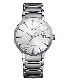 Rado Watch, Men's Swiss Automatic Centrix Stainless Steel Bracelet 38mm R30939103