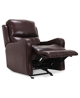 Comfortable Recliner Couches oliver leather power recliner - furniture - macy's
