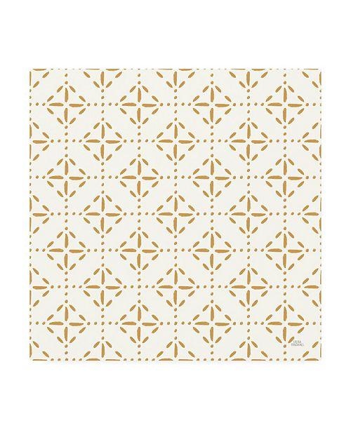 """Trademark Global Laura Marshall Harvest Village Pattern VIIA Canvas Art - 19.5"""" x 26"""""""