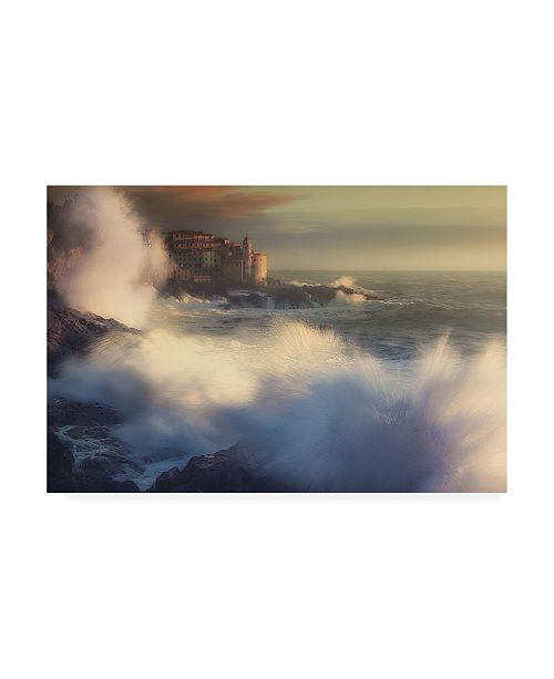 "Trademark Global Paolo Lazzarotti Waves Explosion Canvas Art - 19.5"" x 26"""