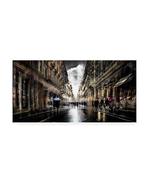 "Trademark Global Nicodemo Quaglia The Street Fashion Canvas Art - 36.5"" x 48"""