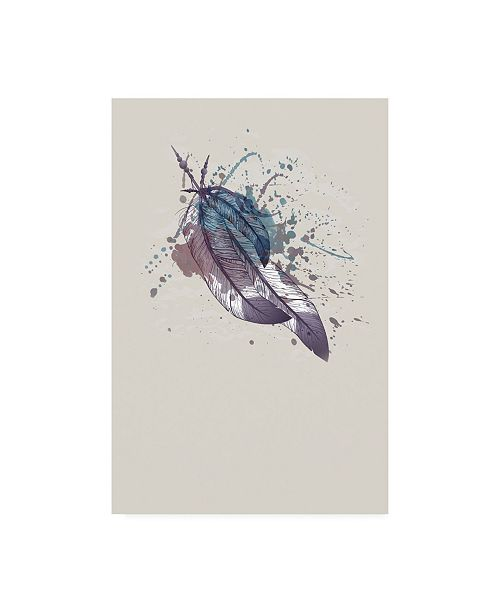 "Trademark Global Incado Eagle feather II Canvas Art - 27"" x 33.5"""