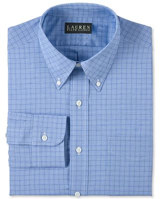 Lauren Ralph Lauren Blue Glen Plaid Dress Shirt - Dress Shirts ...