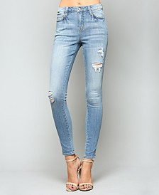 Vervet High Rise Distressed Skinny Jeans