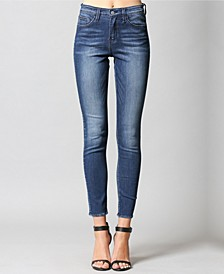 High Rise Regular Hem Ankle Skinny Jeans
