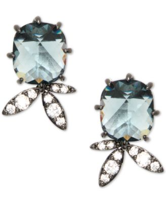 Hematite Crystal Stud Earrings