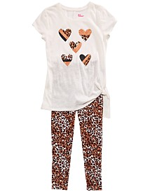 Epic Threads Big Girls Side-Tie T-Shirt & Cheetah-Print Leggings, Created for Macy's