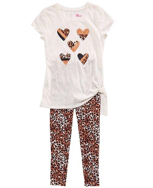 Epic Threads Big Girls Side-Tie T-Shirt & Cheetah-Print Leggings, Created for Macy's