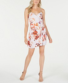 Nadia Printed Faux-Wrap Dress